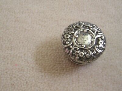 Solid Silver Perfume Scent Bottle Top Hallmarked.....