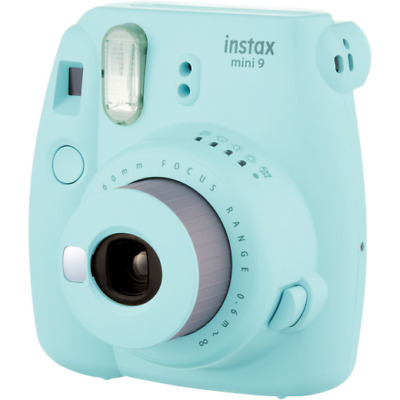 Fujifilm Instax Mini 9 Compact Instant Film Camera: Ice Blue