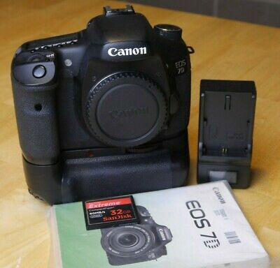 Canon EOS 7D body, grip, 32GB memory, excellent condition