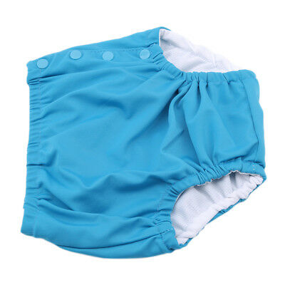 Swim Nappy Adjustable Reusable Pant Diaper Baby Toddler Boy Kids Girl Swimmer 8C