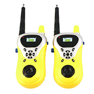2X Two Handheld Walkie Talkie for Children Kids Yellow Toy Educational Games