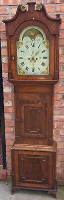 Antique Rolling Moon Mahogany Long Case Grandfather Clock John Coldcot Cotton