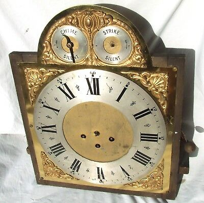 Musical 3 Train Long Case Grandfather Clock Dial & Movement Possibly Tube Chimer