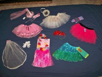 New Claire's Little Girls Dress Up Costume Clothes & Accessories 14 Pieces