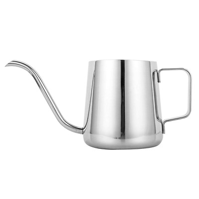 Long Narrow Spout Coffee Pot 12 oz Food Grade Stainless Steel Hanging Ear Hand