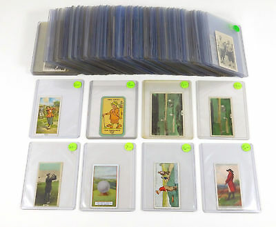 Lot of (90+) Different 1920's - 1950's Vintage Golf Trading Cards