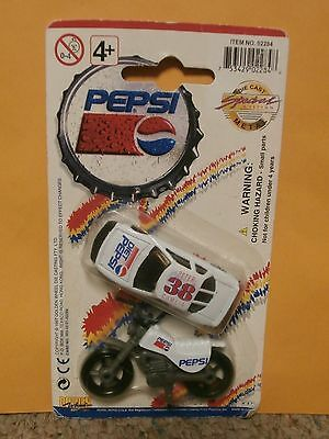 "1997 Golden Wheels Diet Pepsi Car And Motorcycle, Mint  In 4""x7"" Card"