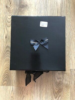 Black Chanel Box With A Bow Used