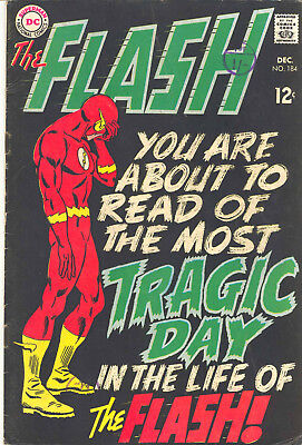 Dc Comics Flash - 184, December 1968 (Barry Allen) Rare Silver Age Issue