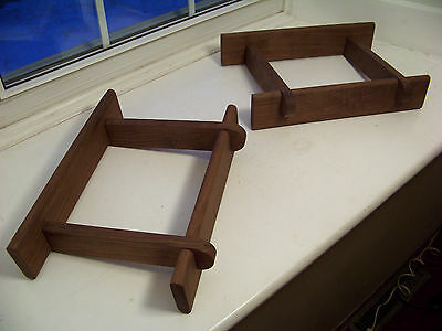 Pair of Solid Walnut Speaker Stands made for Dynaco A35 Speakers *Free Shipping*