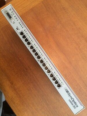 Synoptics 16 port lattishub 10 base t network hub vintage (2803.