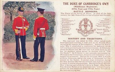 GREAT BRITAIN ~  THE DUKE OF CAMBRIDGE'S OWN MIDDLESEX REGIMENT ~ c1910