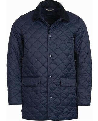 BARBOUR Men's DARK BLUE THURLAND QUILTED JACKET SZ. M NWT