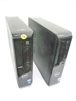 2 x Dell Vostro 260s Desktop PC Core i3 2120 3.30GHz 4GB DDR3 RAM 500GB HDD