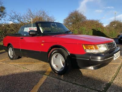 1992 Saab 900 2.0 Turbo 16v S. Convertable.  Low mileage. Fully serviced.