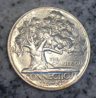 1935 Connecticut Commemorative Half Dollar, Very Nice Superb Gem