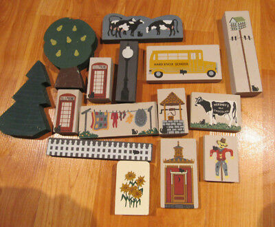 The Cat's Meow Lot 15 small shelf sitters Hersheys cow laundry telephone bus