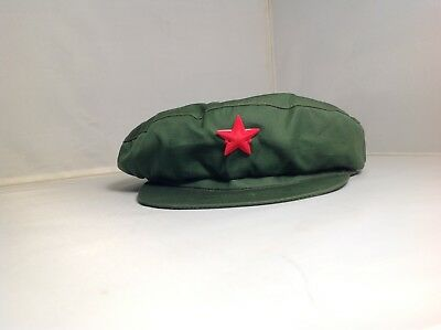 Vintage OD Green Mao Chinese Military Liberation Army Type 65 Cap W/ Red Star
