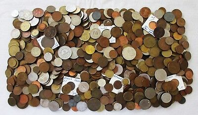 8+ POUNDS of OLD  WORLD COINS > MANY COUNTRIES > HUGE LOT > SEE PICS >NO RSRV