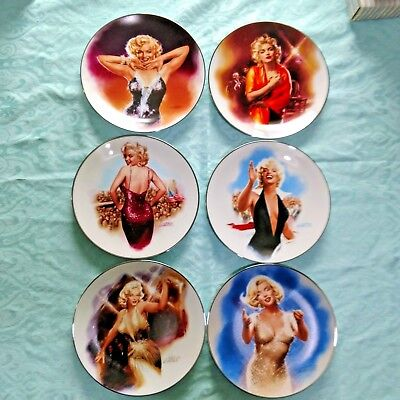 Marilyn Monroe Limited Edition Collector Plates Lot 6 with Cert. of Authenticity