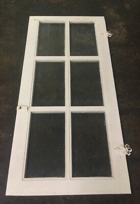 "Vintage Wooden Antique Framed 6 Panel Cabinet Kitchen Door (42"" T., 19.25"" W.) 2"