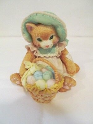 Enesco Calico Kitten Easter Wishes Coming Your Way 623571  Never Displayed & NIB