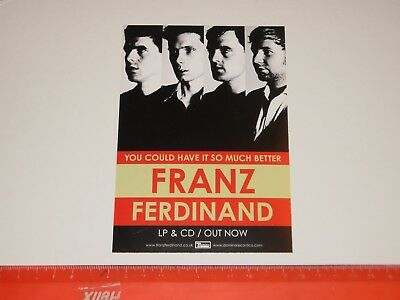 Franz Ferdinand ‎– You Could Have It So Much Better - A6 Card Flyer