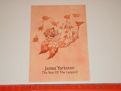 James Yorkston ‎– The Year Of The Leopard  - A6 Card Flyer