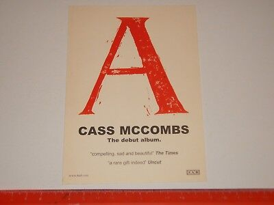 Cass McCombs ‎– A / Blonde Redhead  - A6 Card Flyer