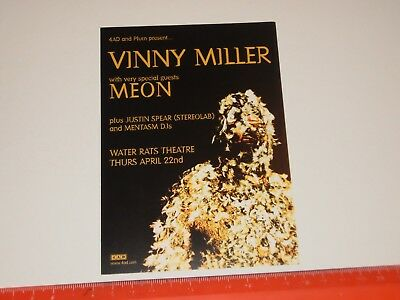 Vinny Miller - Water Rats Theatre (On The Block)  - A6 Card Flyer
