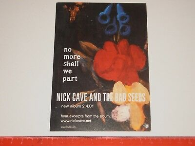 Nick Cave And The Bad Seeds ‎– No More Shall We Part - A6 Card Flyer