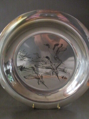 Peter Scott Ltd Edition Christmas Solid Sterling Silver Plate 1972