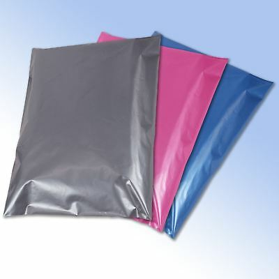 50 Mixed Color Mailing Postage Bags Grey Pink Blue in 4 sizes Strong and Cheap