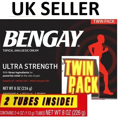 TWIN PACK Bengay Ultra Strength Cream Non-Greasy Pain Relief STRONGEST 2x4oz UK
