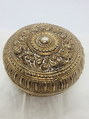 Antique Asian Sterling Silver Unusual Ornate Box