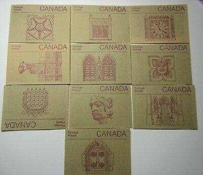 lot 10 different cover Mint Booklets , Canada #1188  bk100