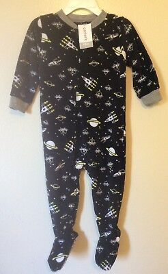 Carters baby boy Outer space theme blaket footed sleeper, size 24 months