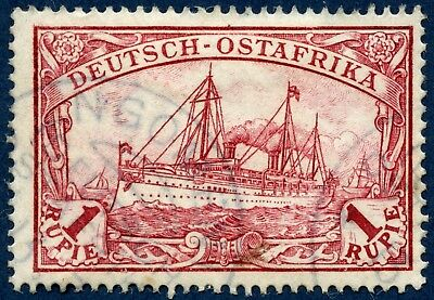 Germany East Africa 1900 used 1 rupie red, no wmk