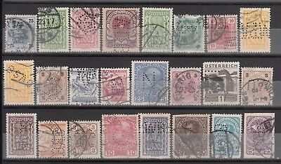 Austria    Lot Of 24  Perfin Stamps  ( 4 )