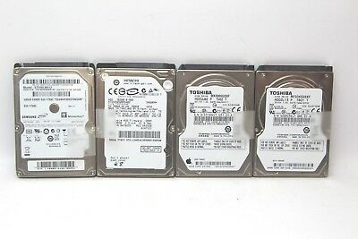 """Lot of 4 Mixed Brands 2.5"""" 500GB HDD SATA Laptop Hard Drive *FORMATTED*"""