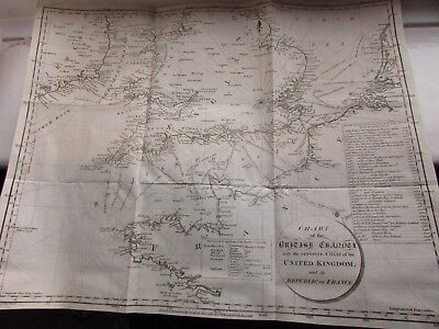 Genuine 1803 map of the British Channel