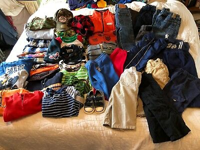 Toddler boy 18-24 Months fall winter outfit clothes lot 48 Pieces