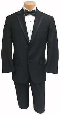 0f6a2fe4c9ea7 Men s Black Calvin Klein Tuxedo w  Pants Shirt Cummerbund   Bow Tie Wedding  Prom