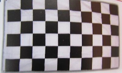 Checkered Flag BLACK - WHITE  -  Large 3' x 5' with Grommets
