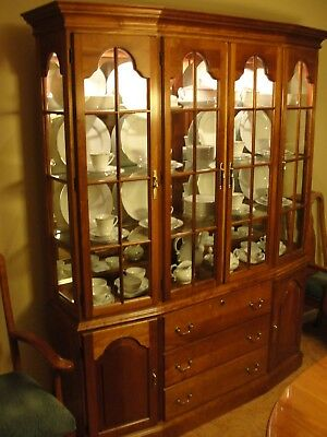 Harden Solid Cherry China Cabinet