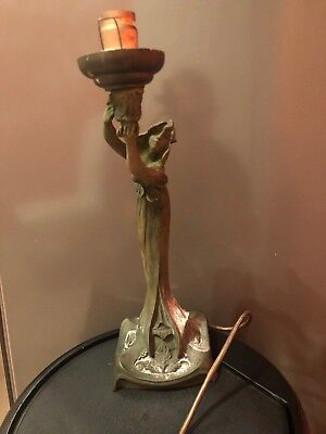 Art Deco French Lady Lamp