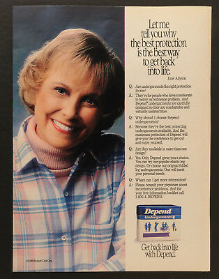 1989 Print Ad Depends Undergarments June Allyson
