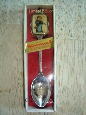 Hummel Collectible Spoon Silverplate Christmas 1986 Limited Edition in box