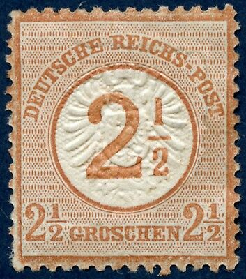 Germany 1872-74 mint 21/2 on 21/2 g brown