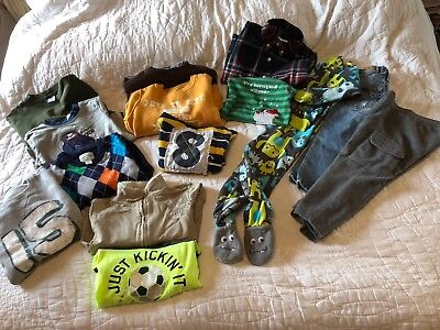 Toddler boy 3-3T  fall winter outfit clothes lot 14 Pieces